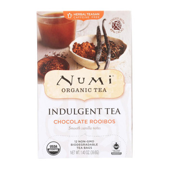 Numi Tea Chocolate Rooibos - Tea - Case of 6 - 12 Bags