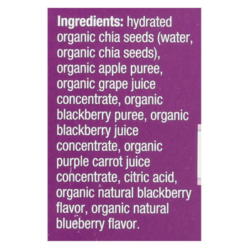 Mamma Chia Squeeze Vitality Snack - Blackberry Bliss - Case of 6 - 3.5 oz.