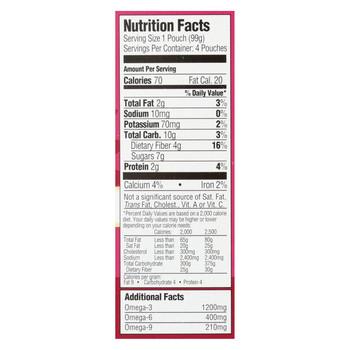 Mamma Chia Organic Squeeze Vitality Snack - Strawberry Banana - Case of 6 - 3.5 oz.