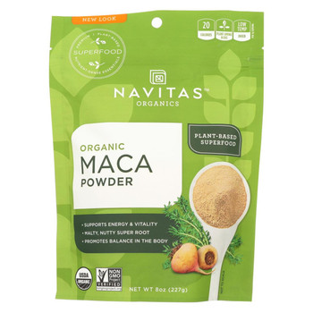 Navitas Naturals Maca Powder - Organic - 8 oz - case of 12