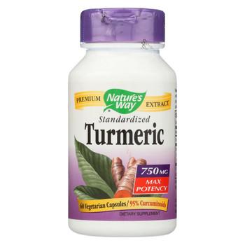 Nature's Way - Turmeric - Maximum Potency - 750 mg - 60 Vegetarian Capsules