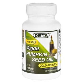 Deva Vegan Vitamins - Pumpkin Seed Oil - Vegan - 90 Vegan Capsules