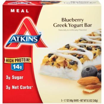 Atkins Advantage Bar - Blueberry Greek Yogurt - 5 ct - 1.7 oz