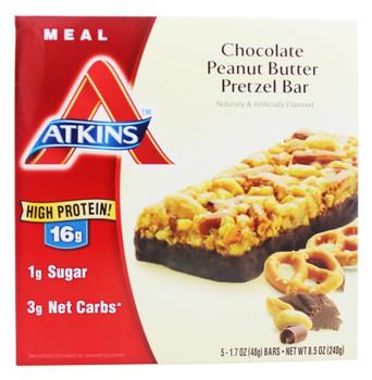 Atkins Advantage Bar - Chocolate Peanut Btr Prtzl - 5 ct - 1.7 oz - 1 Case