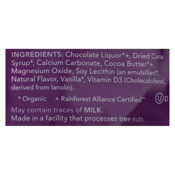 Adora - Organic Calcium Supplement Disk - Dark Chocolate - 30 ct - 1 Case