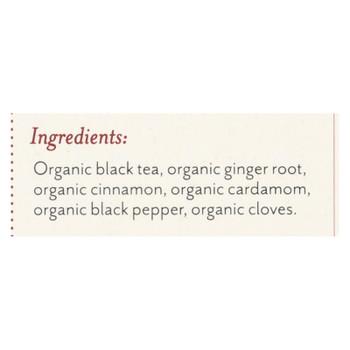 Rishi Organic Tea - Masala Chai - Case of 6 - 15 Bags