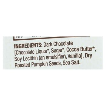 Bark Thins Snacking Dark Chocolate - Pumpkin Seed with Sea Salt - Case of 12 - 4.7 oz.