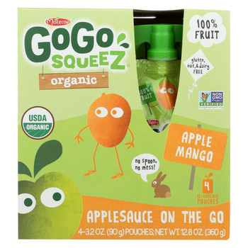GoGo Squeeze Applesauce - Apple Mango - Case of 12 - 3.2 oz.