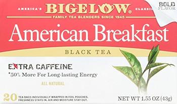 Bigelow Tea American Breakfast Black Tea - Case of 6 - 20 Bags