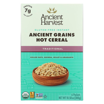 Ancient Harvest Hot Cereal - Traditional - Case of 8 - 10.58 oz.