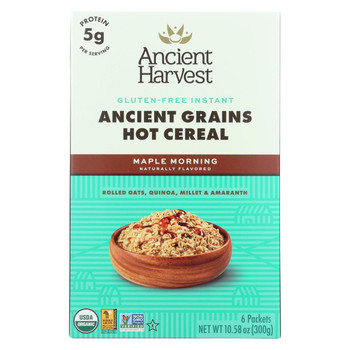 Ancient Harvest Hot Cereal - Maple Morning - Case of 8 - 10.58 oz.