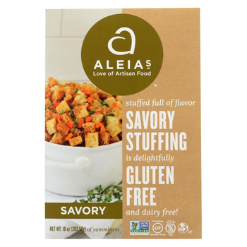 Aleia's - Gluten Free Stuffing Mix - Savory - Case of 6 - 10 Oz