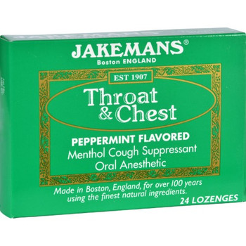 Jakemans Lozenge - Throat and Chest - Peppermint - 24 Count