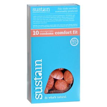 Sustain Condoms Comfort Fit - 10 Pack