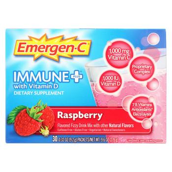 Emergen - C Immune Vitamin Supplement Drink - Raspberry