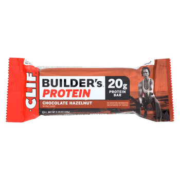 Clif Bar Builders Protein Bar - Chocolate Hazelnut - Case of 12 - 2.4 oz Bars