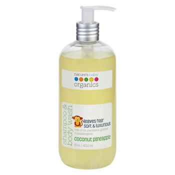 Nature's Baby Organics Shampoo and Body Wash - Coconut Pienapple - 16 oz