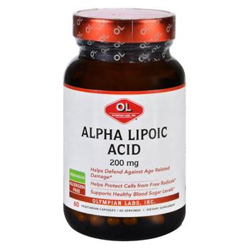 Olympian Labs Alpha Lipoic Acid - 200 mg - 60 Vegetarian Capsules