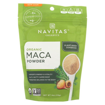 Navitas Naturals Maca Powder - Organic - 4 oz - case of 12