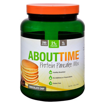About Time - Protein Pancake Mix - Chocolate Chip - 1.5 lb