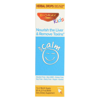 Bioray Kids NDF - Calm - Drops - Vanilla - 2 oz