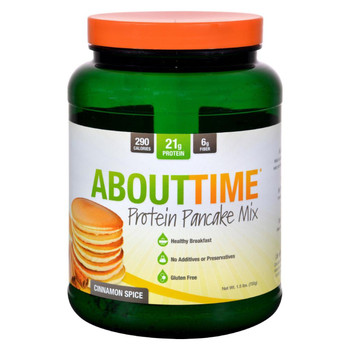 About Time - Protein Pancake Mix - Cinnamon Spice - 1.5 lb