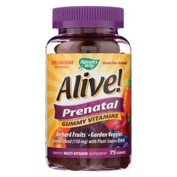 Nature's Way - Alive! Prenatal Multi-Vitamin Gummies - 75 Gummies