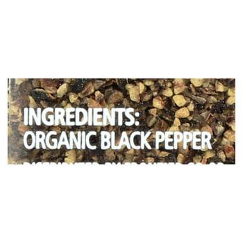 Simply Organic Black Coarse Grind Pepper - Case of 6 - 2.47 oz.