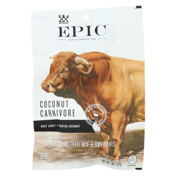Epic Trail Mix - Beef Jerky - Hunt and Harvest - Coconut Carnivore - 2 oz - case of 8