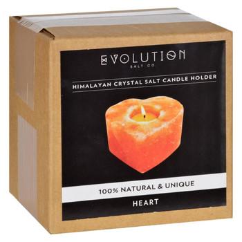 Evolution Salt Tealight Candle Holder - Heart - 1 Count