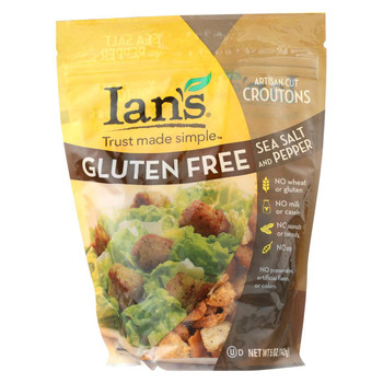 Ian'S Natural Foods Croutons - Sea Salt And Pepper - Case of 8 - 5 oz.