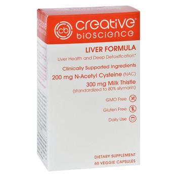 Creative Bioscience Liver Formula - 60 Vegetarian Capsules