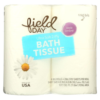 Field Day 2 - Ply Double Roll Bath Tissue - Bath Tissue - Case of 12 - 4 roll