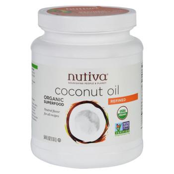 Nutiva Coconut Oil - Organic - Superfood - Refined - 54 oz