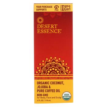 Desert Essence - Coconut Jojoba and Coffee Oil - Organic - 4 oz