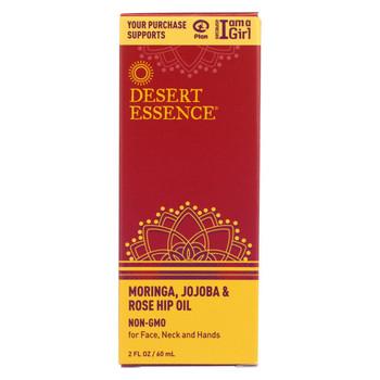 Desert Essence - Moringa Jojoba and Rose Hip Oil - 2 oz
