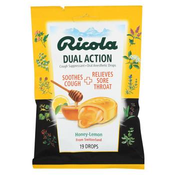 Ricola Cough Drops - Honey Lemon - Case of 12 - 19 Count