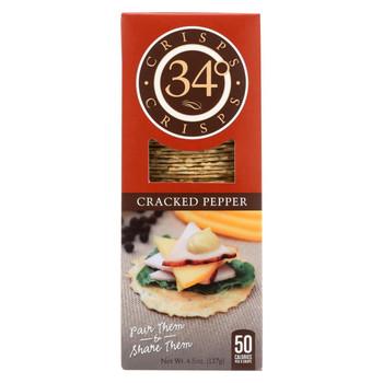 34 Degrees - Crispbread Cracked Pepper - Case of 18-4.5 oz