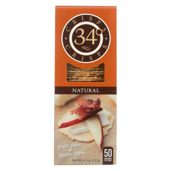 34 Degrees Crisps - Natural - Case of 18 - 4.5 oz
