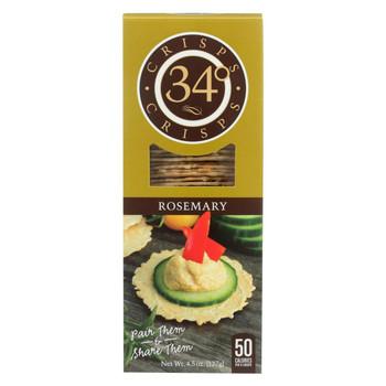 34 Degrees - Crispbread - Rosemary - Case of 18 - 4.5 oz.