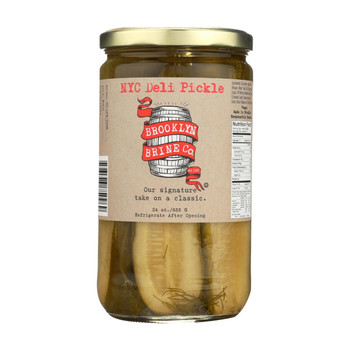 Brooklyn Brine New York City Deli Pickle - Case of 12 - 24 oz.