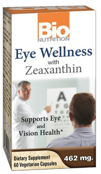 Bio Nutrition - Inc Eye Wellness with Zeaxanthin - 60 Vegetarian Capsules