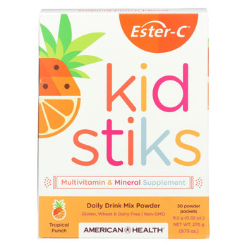 American Health - Ester-C - Kid Stiks - Tropical Punch - 30 Packets