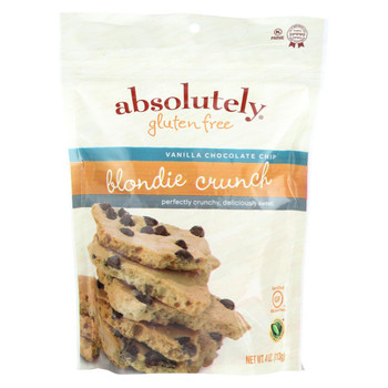 Absolutely Gluten Free Blondie Crunch - Vanilla Chocolate Chip - Case of 6 - 4 oz.