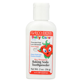 Eco-Dent Toothpowder - DailyCare - Kids - Strawberry - 2 oz