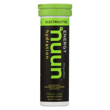 Nuun Hydration Drink Tab - Energy - Lemon-Lime - 10 Tablets - Case of 8