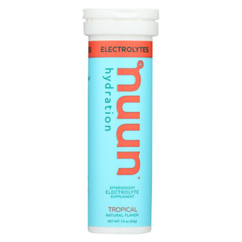 Nuun Hydration Drink Tab - Active - Tropical - 10 Tablets - Case of 8