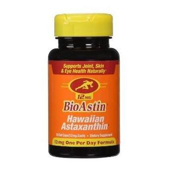 Nutrex Hawaii BioAstin - Hawaiian Astaxanthin - Vegetarian - 12 mg - 50 Vegetarian Gelcaps