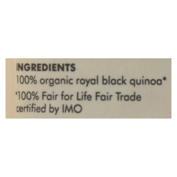 Alter Eco Americas Quinoa - Organic Black Heirloom - Case of 6 - 12 oz.
