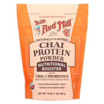 Bob's Red Mill Chai Protein Powder Nutritional Booster - 16 oz - Case of 4